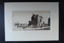 Load image into Gallery viewer, STANLEY ANDERSON (1884 – 1966). Fine ORIGINAL 1920s Drypoint Etching 'La Lieutenance Honfleur'. Pencil Signed