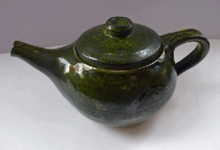 Load image into Gallery viewer, Vintage STUDIO POTTERY Stoneware Teapot. Attractive and Sturdy Pot with Japanese Inspired Decorations