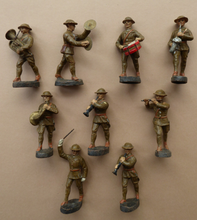 Load image into Gallery viewer, Elastolin Toy Soldiers Army Marching Band