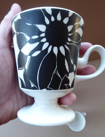 Funky 1960s JAVA Flower Power Coffee Cups. Oslo Shape by Carlton Ware. Sold as single items for spares