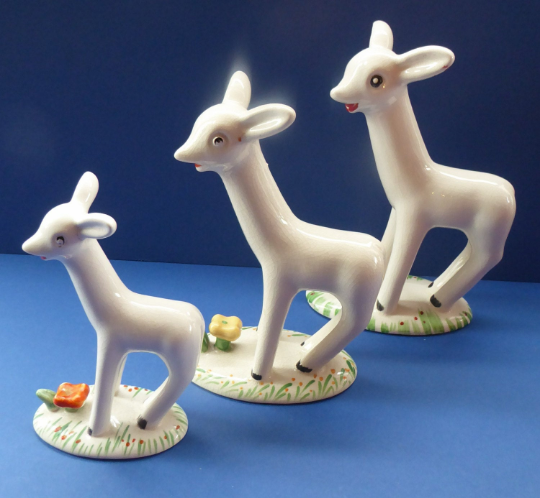 SET OF THREE: Larry the Lamb 1930s Porcelain Plichta Series for Midwinter, Burslem