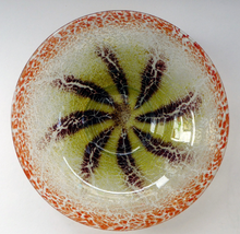 Load image into Gallery viewer, Large Art Deco WMF IKORA Crackle Glass Shallow Bowl; probably by Karl Wiedmann, c 1930