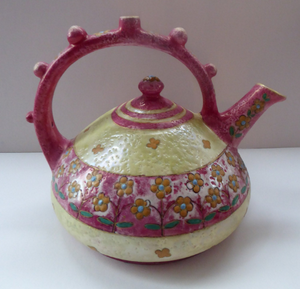 Beautiful Austrian 1910s Art Nouveau / Jugenstil Amphora Puzzle Teapot or Kettle, with Wiener Werkstatte inspired decoration