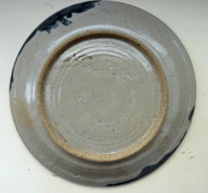 STUDIO POTTERY: Large Studio Pottery Charger. Decorated with Multi-Coloured Painterly Abstract Designs