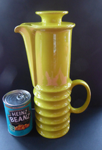 Load image into Gallery viewer, TALL 1970s Coffee Pot. Bright Lemon-Lime Colour. Vintage Wellington Shape by Carlton Ware