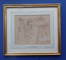 Load image into Gallery viewer, Museum Quality Pencil Sketch: Wolfgang Adam TOEPFFER (1766 - 1847) Switzerland. Sheet of Figure Studies