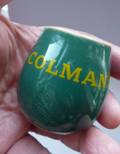 Vintage Ceramic Colman's Mustard Pot Advertising Interest