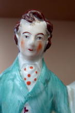 Load image into Gallery viewer, STAFFORDSHIRE FIGURINE. Miniature Model of the Prince and Princess of Wales