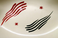Load image into Gallery viewer, LARGE 1950s Burleigh Ware Dish with Atomic Abstract Decoration