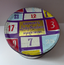 Load image into Gallery viewer, 1960s Cadbury's Lucky Numbers 6lb Biscuit Tin