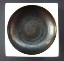 Load image into Gallery viewer, Early TROIKA St Ives Pottery. Minimalist Square Dish with Black Dot Indentation. Honor Curtis 1969-1973 Cornwall England