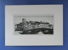 Load image into Gallery viewer, ORIGINAL ETCHING by Francis Dodd (1874 - 1949). Ponte di Mezzo, Pisa. Signed and dated 1915