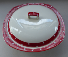Load image into Gallery viewer, 1950s RED DOMINO Midwinter Lidded Serving Dish or Tureen. Designed by Jessie Tait