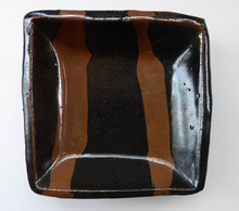 Load image into Gallery viewer, Janet Leach (1918-1997) Small Square Stoneware STUDIO POTTERY Dish with Tenmoku Glaze