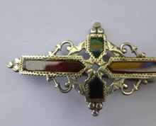 Load image into Gallery viewer, SCOTTISH SILVER: Delicated 1905 Edwardian Adie & Lovekin Ltd Brooch Inset with Agates
