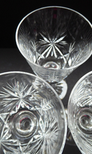 Load image into Gallery viewer, Handy Set of FIVE Vintage EDINBURGH CRYSTAL Liqueur or Sherry Glasses