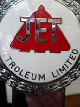 Load image into Gallery viewer, 1960s CAR BADGE for JET Petroleum Ltd