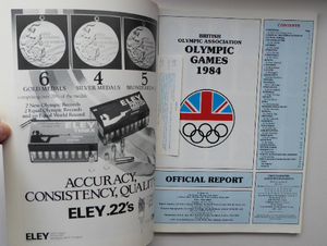 Official Report. British Association Olympic Games 1984. Winter Olympics Sarajevo and XXIII Olympiad Los Angeles. Rare Publication