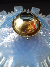 Load image into Gallery viewer, FRENCH Art Nouveau Genuine Period Flat Pendant Lamp Shade. Vaseline Glass