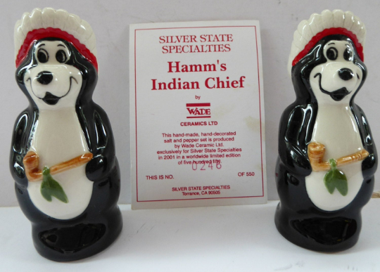 Wade Hamms Beer Bears Salt and Pepper Set