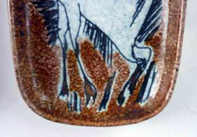 Load image into Gallery viewer, 1950s Mid-Century Italian Sgraffito Ceramic Dishes. Pair with Bull and Horse, Probably by FRATELLI FANCIULLACCI