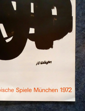 Load image into Gallery viewer, ORIGINAL Vintage Poster for the Olympic Games Held in Munich 1972 Artist: PIERRE SOULAGES