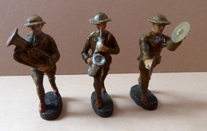 Elastolin Toy Soldiers Army Marching Band