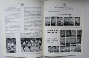 ATHLETICS Arena. Two Official Report of the Commonwealth Games. EDINBURGH 1970. VERY Rare Publications. Soft Cover