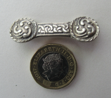 Load image into Gallery viewer, 1940s Silver CELTIC Bar Brooch Designed by Robert Allison