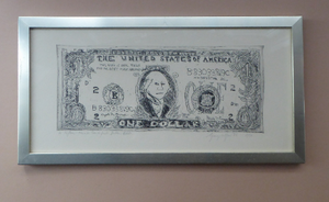 SCOTTISH ART. George Wyllie (1921 - 2012). A Fifteen Minute Dollar Bill. Pencil Signed Etching; 1986