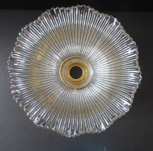 ANTIQUE Edwardian HOLOPHANE Ribbed Glass Lamp Shade