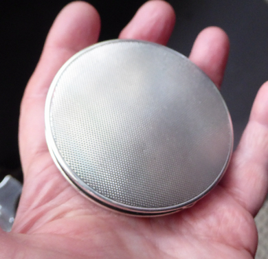 Solid Silver Powder Compact
