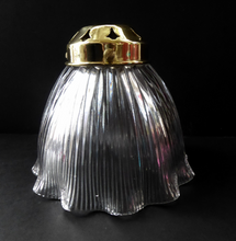 Load image into Gallery viewer, ANTIQUE Edwardian HOLOPHANE Ribbed Glass Lamp Shade