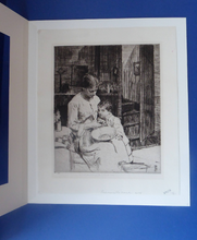 Load image into Gallery viewer, Original Pencil Signed Etching: William Lee Hankey. Preparing the Meal; 1920s