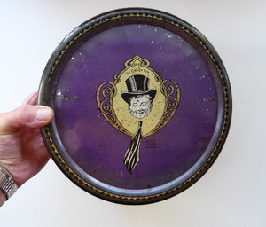 Horner's Toffee Tin College Boy Image on Lid
