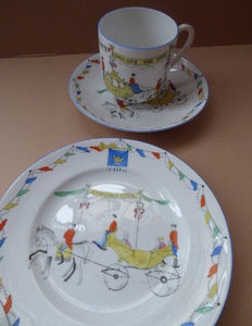 ROYAL COMMEMORATIVE 1937. Rare & Unusual Foley Bone China Trio to Celebrate the Coronation of George VI