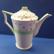 Load image into Gallery viewer, ART DECO Tams Ware Pottery Rainbow Polka Dots Complete Coffee Set. Extremely Rare
