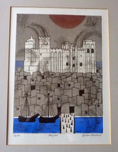 Load image into Gallery viewer, Julian Trevelyan ORIGINAL Etching & Soft Ground Aquatint. AVIGNON. Pencil Signed and Dated 1972