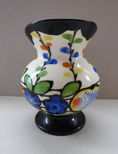1930s Czech ART DECO Pottery Hand Painted Jug / Pitcher by Ditmar Urbach