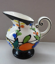 Load image into Gallery viewer, 1930s Czech ART DECO Pottery Hand Painted Jug / Pitcher by Ditmar Urbach