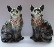 Load image into Gallery viewer, Antique SCOTTISH POTTERY. Highly Collectable Victorian / Edwardian Bridgeness (Bo'ness) Cats, c 1908