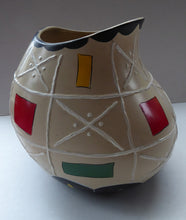Load image into Gallery viewer, Rare BRENTLEIGH WARE 1950s Atomic Gourd Shaped Vase: SUSA Shape and Rarer Beige Colour