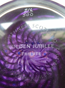 Lovely Vintage COLIN TERRIS Golden Jubilee Scottish Caithness Glass Paperweight: TRIBUTE