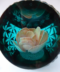 Rare ROSE BASKET Limited Edition CAITHNESS Paperweight by Colin Terris