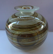 Load image into Gallery viewer, Isle of Wight Studio Glass  by Michael Harris, c 1970. LARGE Tortoiseshell Globular Vase