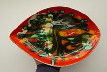 Load image into Gallery viewer, Early 1970s POOLE DELPHIS Shield Dish. Decorated by Pamela Bevans