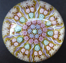 Load image into Gallery viewer, Gorgeous Colours. Scottish Glass - Strathearn Millefiori Canes and Latticino Ten Spoke Paperweight