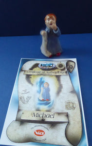 Cute Wade PETER PAN COLLECTION. Michael Darling Figurine. Limited Collection