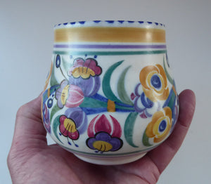 Early 1930s Art Deco Poole CARTER, STABLER & ADAMS Pottery Fuchsia Pattern Bowl