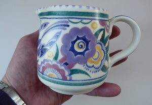 Early 1950s POOLE Pottery BLUEBIRD Pattern Decorative Jug